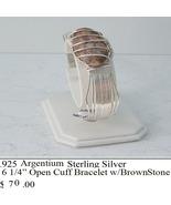 S.S. Cuff W Brown Stone (B21) - $70.00
