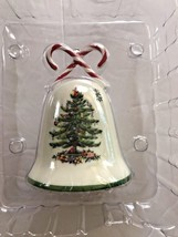 SPODE CHRISTMAS TREE pattern Candy Cane Bell Ornament - $11.87
