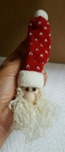 """Christmas Tree Santa Claus w Hat Ornament - 7x1.5"""" Pre-owned Nice Condition  - $4.90"""