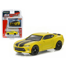 2016 Chevrolet Camaro SS Bright Yellow 1/64 Diecast Model Car by Greenlight 1316 - $12.46