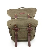 Trendy Apparel Shop World War 2 Style Canvas Back Pack with Padded Shoul... - $69.99