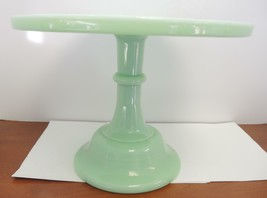 """Mosser Glass Traditional Style Jadeite Green Cake Plate - 12 1/2"""" Round - $60.79"""