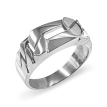 Sterling Silver Figaro Link Chain Ring - £21.51 GBP
