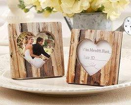 Rustic Romance Faux-Wood Heart Place Card Holder/Photo Frame - 96 - $187.57