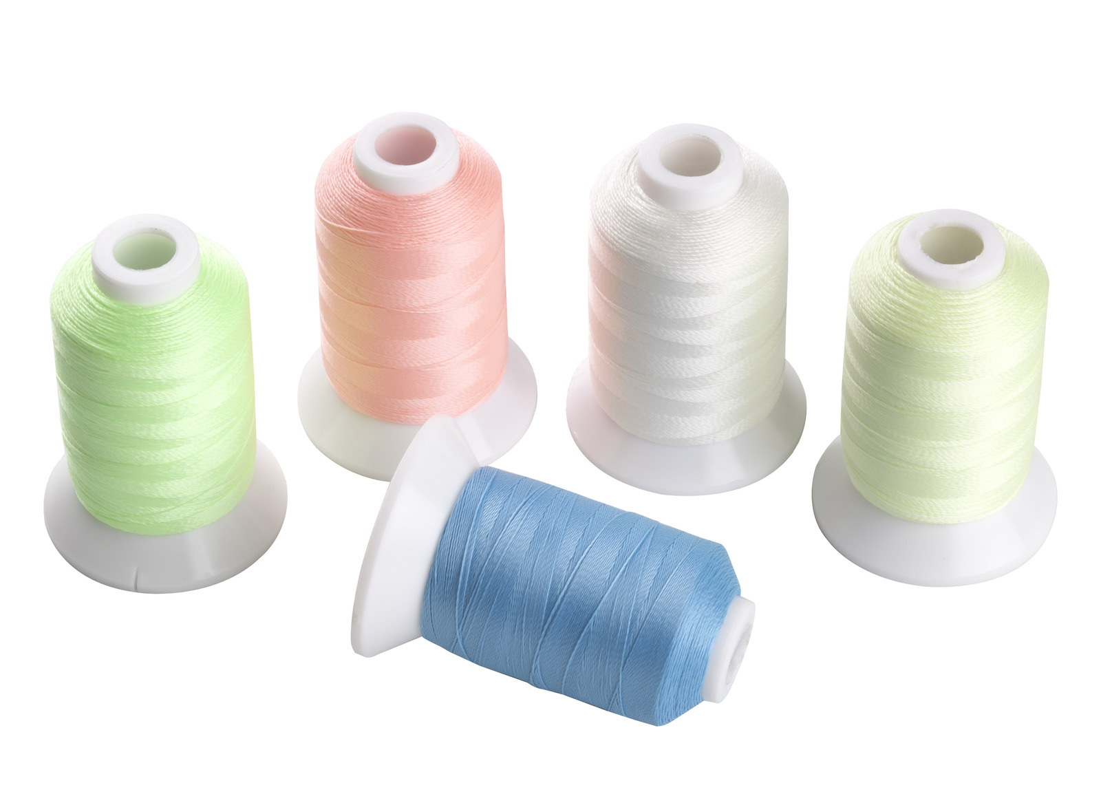 Primary image for SIMTHREAD 5 Spools Glow in the Dark Polyester Embroidery Thread 500m/spool