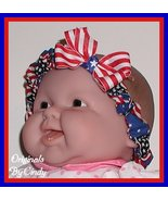 Toddler Headband American Flag Baby Bow Patriotic Red Stripes Stars  - $8.00