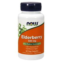Now Foods Elderberry 500 Mg - 60 Veg Capsules Made in USA  - $21.68