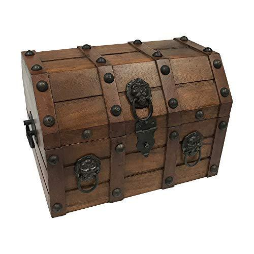 Authentic Pirate Loot Chest Antique Reproduction in Mango & Teak Wood