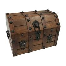 Authentic Pirate Loot Chest Antique Reproduction in Mango & Teak Wood - $70.32