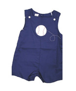 Adorable Petit Ami Navy Toddler Boy Shortall Romper w/ Baseball, Boutique - €36,23 EUR