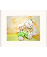 White Toy Rabbit Watercolor/color Pencil - Prints  - $35.00