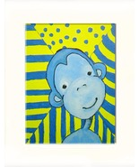 Funky Blue Monkey Acrylic on Canvas Board - Prints Available - $35.00