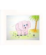 Elephant and Little Mouse Acrylic/Color Pencil - Pr - $35.00