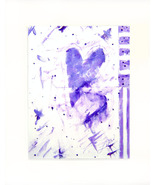Lavender Hearts Acrylic on Canvas Board - Prints Available 8 - $35.00