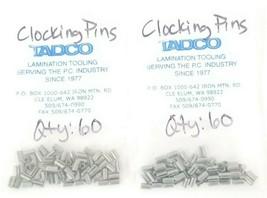 LOT OF 120 NEW TADCO CLOCKING PINS image 1