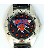 New York Knicks NBA, Fossil Mans Unworn Rare Vintage 1995 Watch Leather ... - $87.96