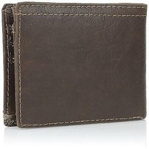 NEW LEVI'S MEN'S PREMIUM LEATHER CREDIT CARD ID WALLET BILLFOLD BROWN 31LV2200 image 2