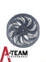 A-Team Performance Radiator Electric Cooling Fan 16inch Heavy Duty 12V Wide Curv image 4