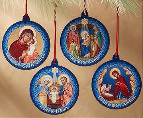 Icon medallion ornament set k95  1