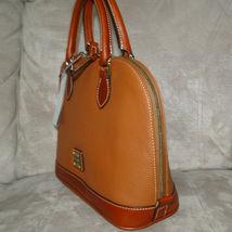 Dooney & Bourke Pebble Leather Zip Zip Satchel CARAMEL image 3