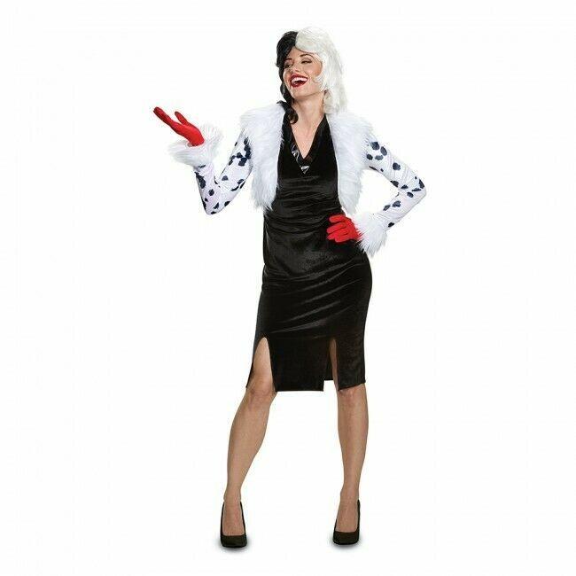 Disguise Cruella de Vil 101 Dalmations Delxue Adult Halloween Costume 67494 image 2