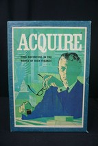 Vintage Aquire High Adventure In The World of Finance Stockmarket 3M Board Game  - $39.95
