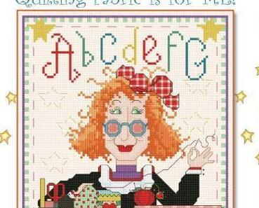 Quilting Fabric Is For Me cross stitch chart Alma Lynne Originals