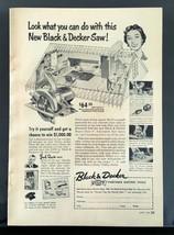 Vintage 1954 Black & Decker Saw Full Page Original Tools Ad - $6.64