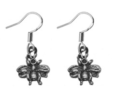 Queen Bee Wasp Hook Earrings sterling silver 925 Jewelry Special Made New - $18.93