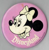 "Disneyland Souvenir Minnie Mouse Pink 3"" Pin button - $14.00"