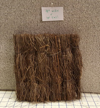 Hawaiian Tiki Hula Luau Raffia Straw Hut Remnant Ric Rac Do Dads Crafts VTG - $16.83