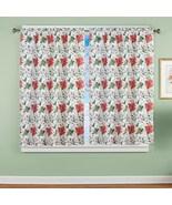 Poinsettia Pattern Window Curtain Panel - $23.66