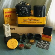 Kodak Vintage Cameras Accessories LOT 98pc Filters Lens Hoods Self Timer Splicer - $36.00