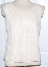Talbots Ivory Silk Embellished Blouse/Shirt/Tank/Top 4 S Small - $19.99