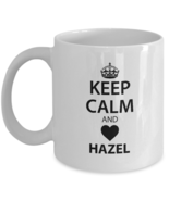 Personalized cups with names For Men, Women - Keep Calm And Love HAZEL -... - $14.95