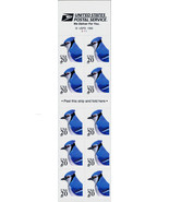 1996 20c Blue Jay, Mint Booklet Pane of 10 Scott 3048a - $6.72