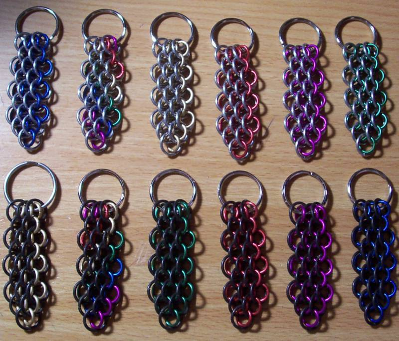 Dragonscale Keychain in Chain Maille
