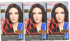 (3) Revlon Salon Color 3 Natural Black Booster Kit Luminous Gray Coverage - $31.67