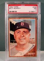 1962 Topps #336 BILLY MUFFETT PSA 7 NM Baseball card - $24.74
