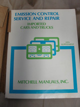 MITCHELL 1978 SUPPLEMENT EMISSION CONTROL SERVICE & REPAIR IMPORTED CARS... - $7.99