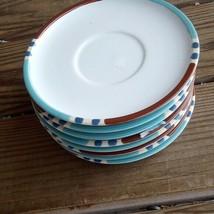8 Dansk Mesa Sky Blue Saucers Replacements Japan Stoneware Pottery Coffe... - $40.27