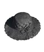 Panda Legends Womens Summer Straw Hat with Flower Foldable Sun Visors Gi... - $22.93