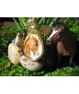 Horse Head Ceramic Pendant Handcrafted - $48.00