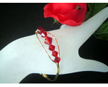 Gold and red crystal bracelet thumb155 crop