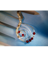 Swarvoski Ice and Ruby Crystal Pendant Handcrafted - $40.00