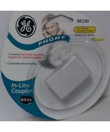 GE In LIne Coupler Connects Two Phones Together-WHITE - $1.99