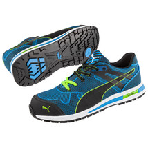 Puma Composite Toe Metal Free Wedge Sole EH Rated, Slip Resistant in Blue - $109.99