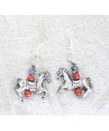 Judy Strobel Elegant Red Jasper & Hematite Horse Earrings - $19.95