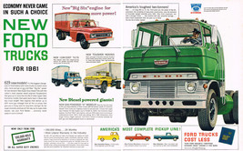 Vintage 1961 2-Page Magazine Ad Ford Trucks Biggest Change-Over In Ford ... - $5.93