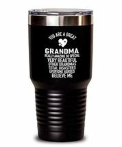 Funny Trump Grandma Insulated Tumbler from Grandson Sweat Proof Thermos - $32.64